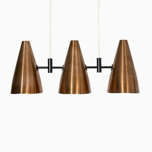 Mid-Century Copper Ceiling Lamp by Eje Ahlgren