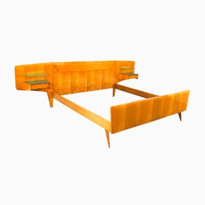 Vintage Double Bed by Vittorio & Plinio Dassi, 1950s