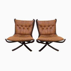 Falcon Chairs by Sigurd Ressell for Vatne Møbler, 1970s, Set of 2