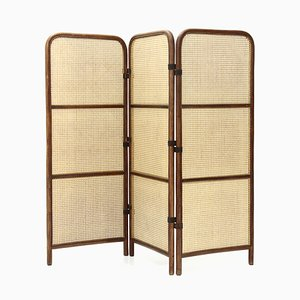 Rattan and Vienna Straw Room Divider from Gervasoni, 1980s