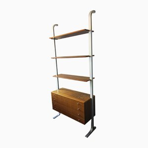 Mid-Century Modular Shelf System with Aluminum Supports