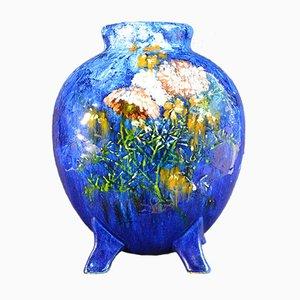 Antike impressionistische Limoges Barbotine Vase von Haviland