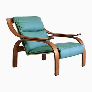 Green Leather Armchairs by Marco Zanuso for Arflex, 1960s, Set of 2