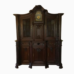 19th Century Rococo Style Cabinet with Clock