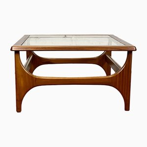 Vintage Teak and Glass Square Coffee Table from Stonehill