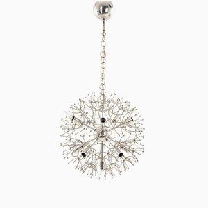 Vintage Chrome Sputnik Pendant Lamp by Gaetano Sciolari, 1960s