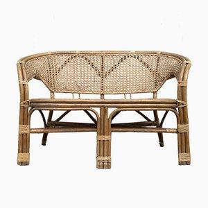 Mid-Century Danish Bamboo Sofa in the Style of Viggo Boesen