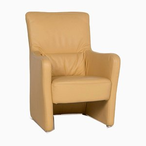 Yellow Leather Armchair from Koinor