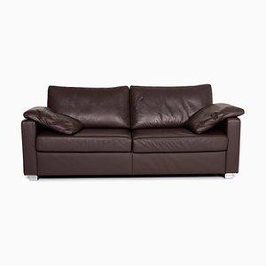Dark Brown Leather 2-Seat Sofa from Ewald Schillig