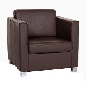 Dark Brown Leather Armchair from Ewald Schillig