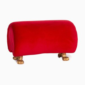 Red Velvet Gaudi Ottoman from Bretz