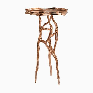 Polished Bronze Side Table