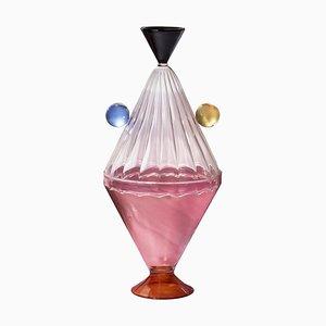 Jarrón Arabesque de vidrio de Serena Confalonieri