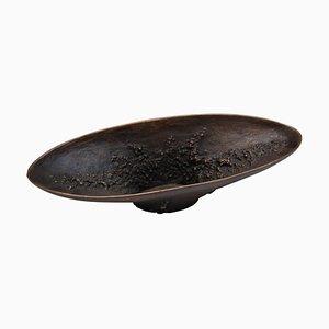 Scodella lunga in bronzo scuro