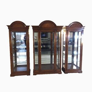 Art Deco Display Cabinets, Set of 3