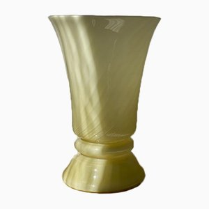 Pastel Yellow Murano Bell Formed Table Lamp, 1970s