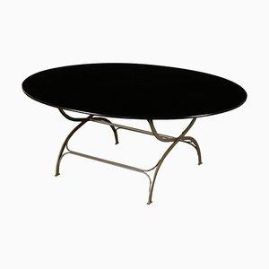Wood and Metallic Enameled Table by Luigi Caccia Dominioni for Azucena, 1970s