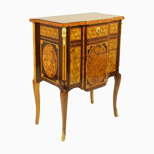18th Century French Transition Louis XVI Marquetry Commode or Sauteuse