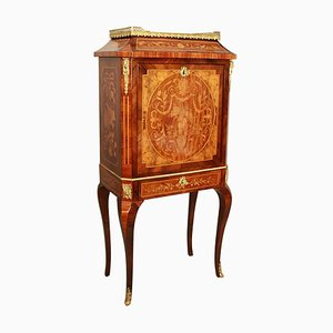 19th Century Louis XVI Floral Marquetry Writing Cabinet or Lady's Secretaire