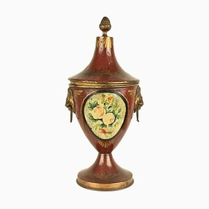Early-19th Century English Regency Tole Chestnut Urn
