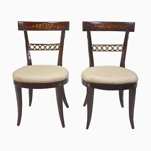 18th Century Italian Painted Side Chairs, Set of 2