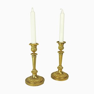18th Century Louis XVI Ormolu Candlesticks, Set of 2