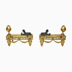 19th Century Napoleon III Chenets or Andirons, Set of 2