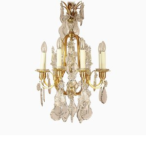 Small Louis XV Style 8-Light Chandelier, French, 1900s