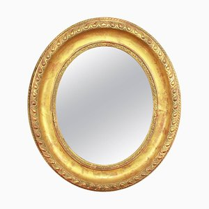 Louis XVI Oval Giltwood Wall Mirror