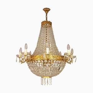 Empire Style Basket Chandeliers, Set of 2