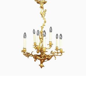 Louis XV Gilt-Bronze 9-Light Chandelier