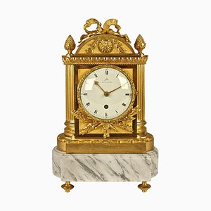 French Restauration Mantel Clock from Galle