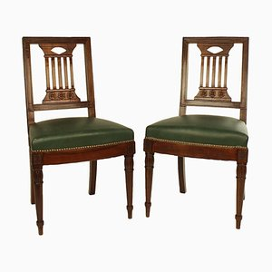 Early-19th Century Directoire Chairs in the Style of Bellange Frères, Set of 2
