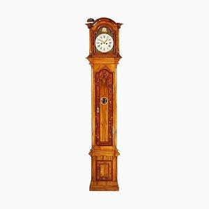 Deutsche Intarsie-Uhr mit Standuhr aus dem 19. Jahrhundert von Johann Wilhelm Wellershaus