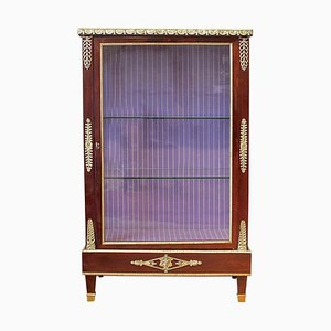 French Louis XVI Style Mahogany Ormolu-Mounted Display Cabinet