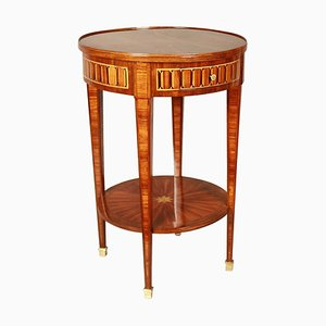 Small 19th Century French Louis XVI Style Marquetry Side Table or Gueridon