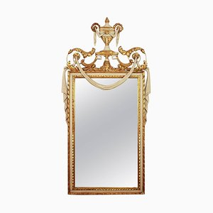 Louis XVI Style Parcel-Gilt and Painted Mirror