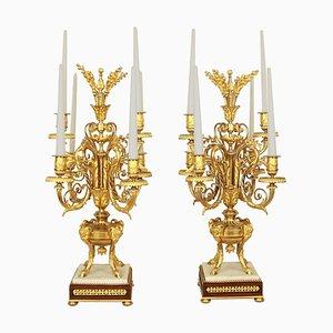 Louis XVI Style Ormolu Candelabra
