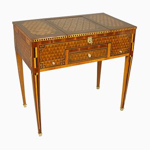 18th Century Louis XVI Geometric Marquetry Dressing Table