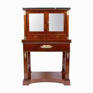 Early-19th Century Empire Gilt Bronze and Mahogany Desk