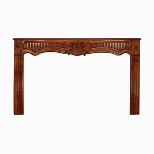 Large Early-18th Century Provincial Walnut Fire Surround