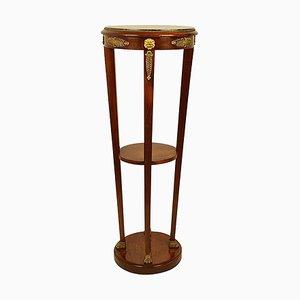 19th Century French Mahogany and Gilt-Bronze Tall Gueridon Pedestal