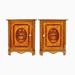 Louis XVI Marquetry Corner Cabinets in the Manner of Daniel Deloose, Set of 2