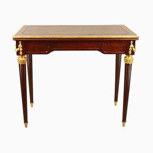 Ausziehbarer Spieltisch im Louis XVI Stil, 19. Jh