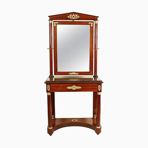Empire Mahogany Dressing Table in the Style of Jacob-Desmalter