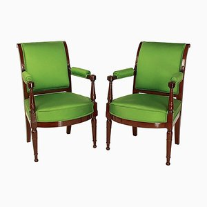 Mahogany Armchairs in the Style of Henri Jacob, 1795, Set of 2