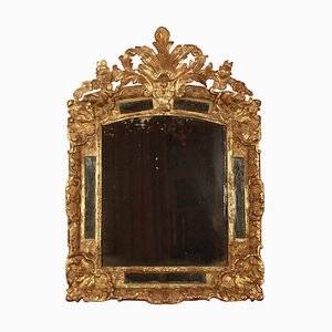Early-18th Century French Regency Gilt and Carved Wood Mirror
