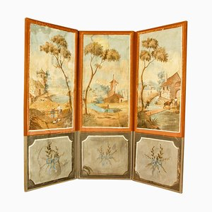 18th Century French Southern Landscapes 3-Leaf Folding Screen or Paravent