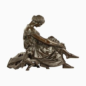 19th Century Bronze Figure of Sappho after James Pradier