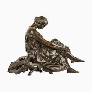 Bronze Figur von Sappho, 19. Jh. Nach James Pradier